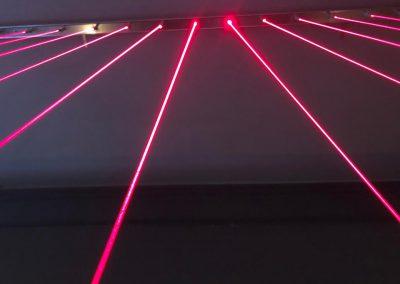 Instalación Laser Maze en La Casa de Papel