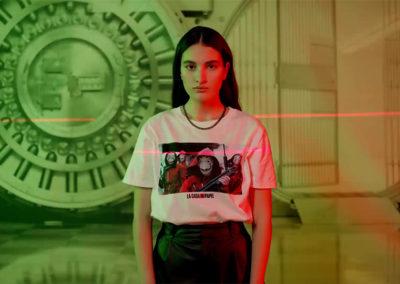 Láser Maze en la campaña depublicidad de Pull&Bear y La Casa de Papel